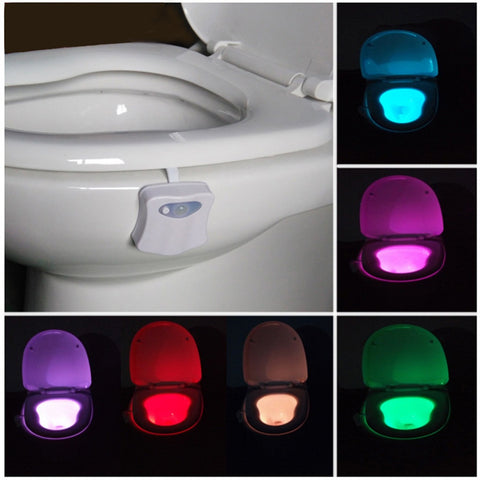 Motion Activated Toilet Night Light 8 Color