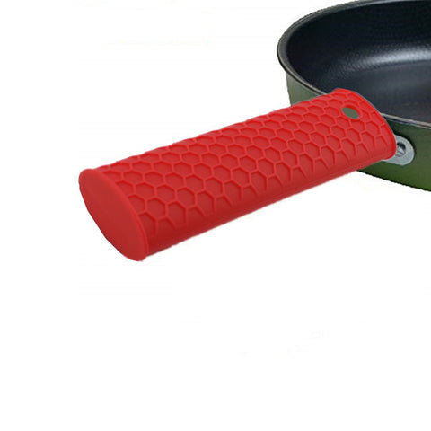 Pot Pan Handle Silicone Kitchen Heat Resistant Grip Holder Sleeve Cover Removable