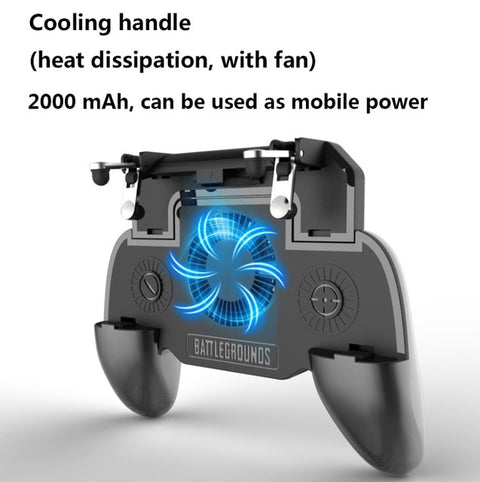 mobile game trigger controller - Cooler Fan - 2000mAh power bank for phone L1R1 game
