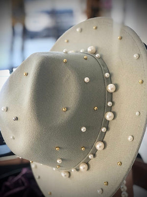 Toulouse Pearl Mint Fedora