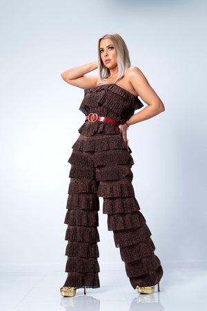 Chocolate Tier Jumpsuit
