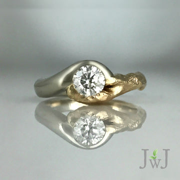 Sea Branch Nature Inspired Diamond Engagement Ring