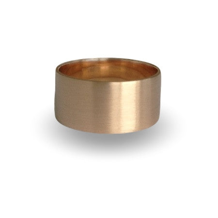Gold Wedding Ring Beach Ocean Wide Tube Sustainable Jewellery eco friendly