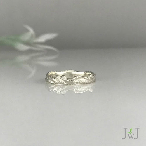 Narrow Ripple Ring Ocean Inspired Jewellery