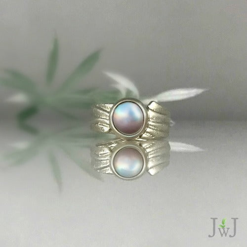Pink Pearl Ripple Ring
