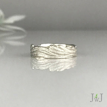 Wide Ripple Stack Ring
