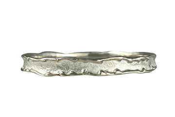 Sand Sea silver bangle sandcast Beach Ocean Wave Inspired Sustainable Jewellery eco friendly