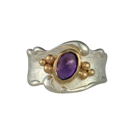 Amethyst Wave Ring