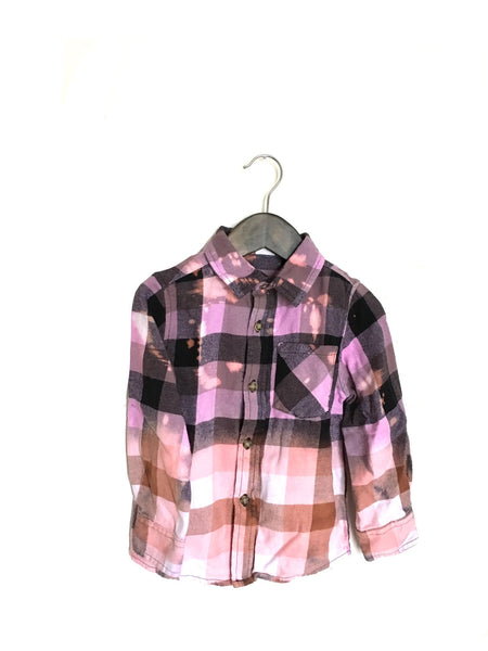 toddler ombre flannel lavender peach plaid