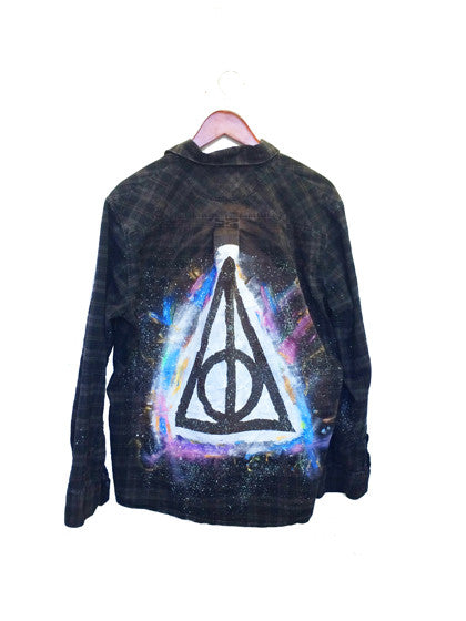 deathly hallow harry potter long sleeve shirt