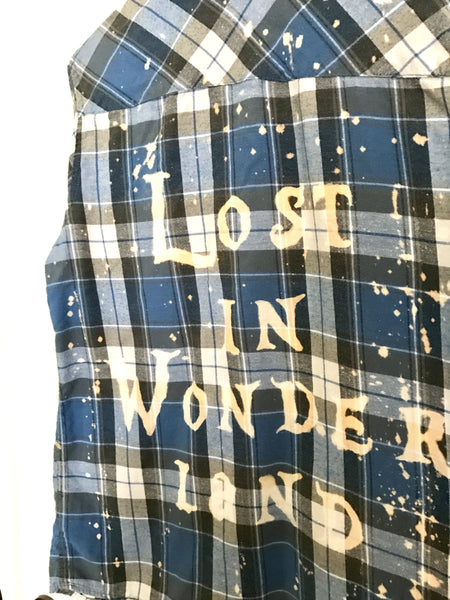 Lost in Wonderland Shirt in Blue Flannel