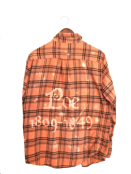 edgar allan poe plaid flannel shirt