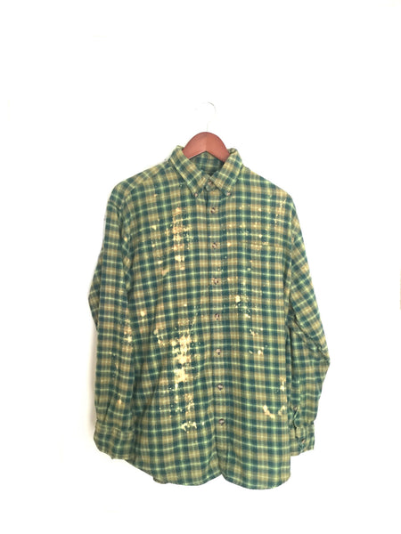 Defying Gravity Shirt in Green Plaid Flannel