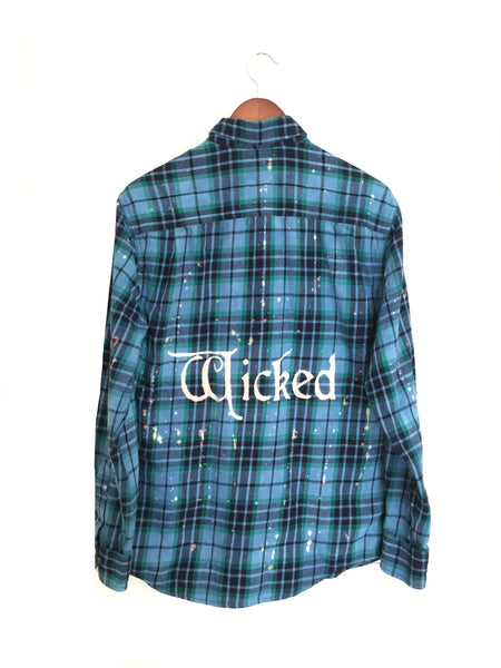 wicked musical shirt blue plaid flannel theatre thespian