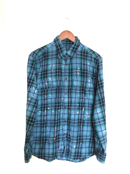 Wicked Musical Shirt in Blue Plaid Flannel