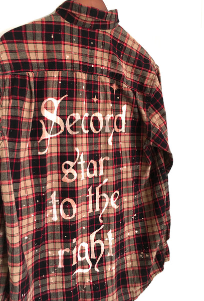 disney hipster flannel bleached quote
