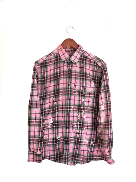 Tiny Dancer Shirt in Pink Plaid Flannel