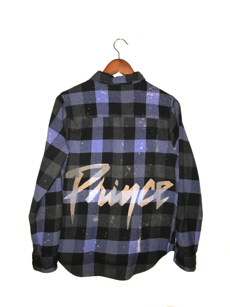 Prince Flannel Shirt in Purple Check