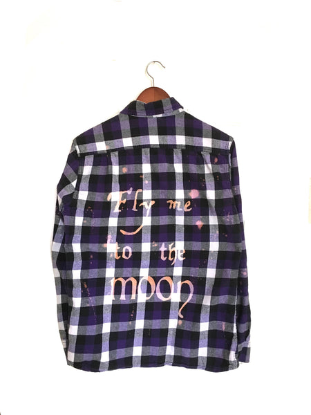 Frank Sinatra Shirt in Purple Plaid Flannel
