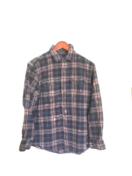 Prince Flannel Shirt in Navy Plaid