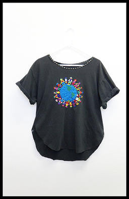 embroidery earth shirt