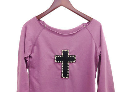 Studded Leather Cross Shirt