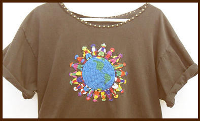 embroidered earth shirt