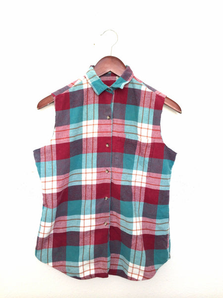 plaid picnic shirt red white blue