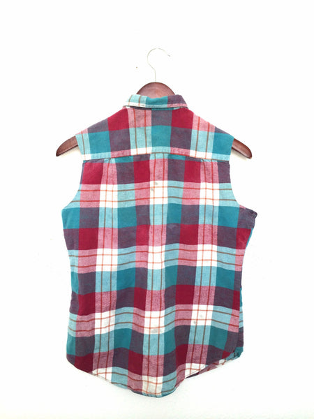 Plaid Picnic Shirt in Red, White + Blue