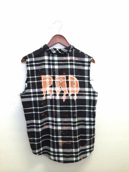 rad plaid shirt black white flannel