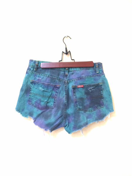 Marble Dyed Shorts (High Waisted)