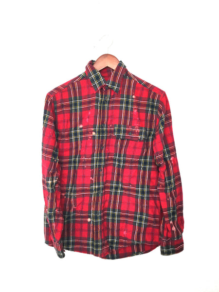 "Nirvana Flannel Shirt ""Smells Like Teen Spirit"" in Red Plaid"