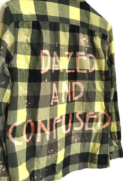 dazed and confused plaid flannel shirt yellow black hipster