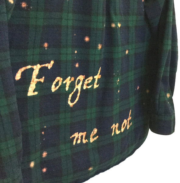 "William Shakespeare Shirt ""Forget Me Not"" in Blackwatch Plaid Flannel"