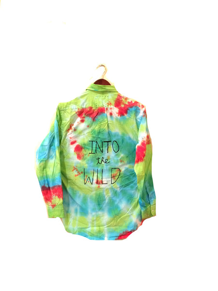 into the wild hipster tie dye shirt
