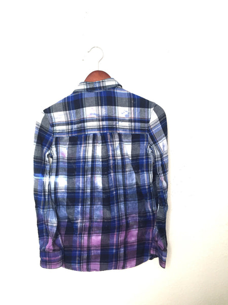 Musical Note Shirt in Blue Plaid Flannel