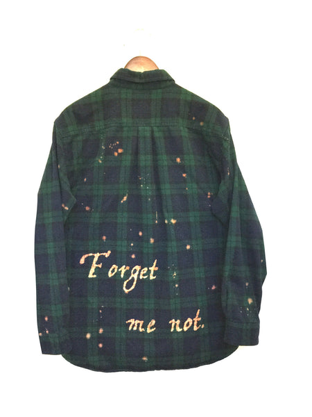 william shakespeare shirt forget me not blackwatch plaid flannel