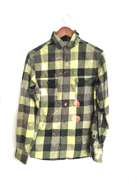 Led Zeppelin Shirt in Yellow Plaid Flannel (Dazed + Confused)