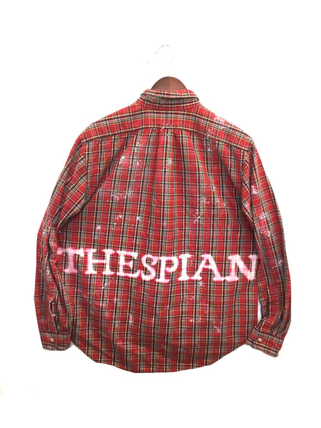 plaid thespian shirt actor red theatre