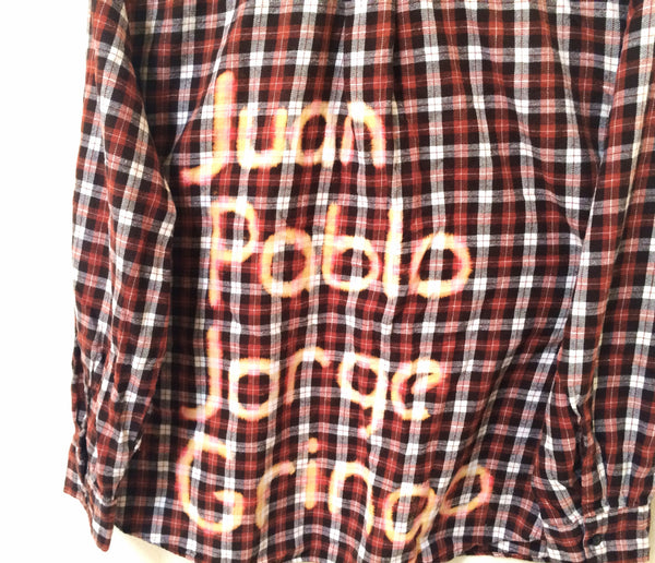 hipster beatles shirt flannel orange