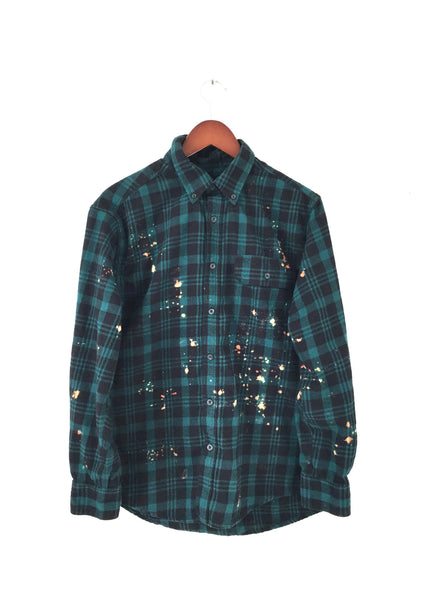 Field of Dreams Shirt in Plaid Flannel Teal Green