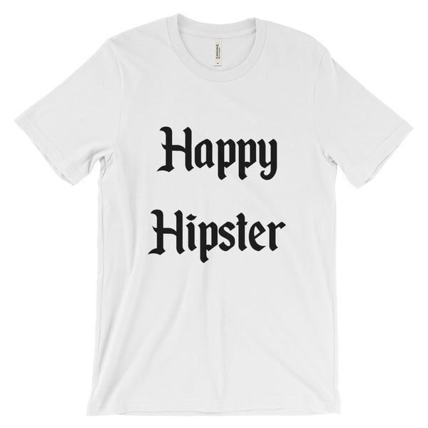 happy hipster graphic tees white