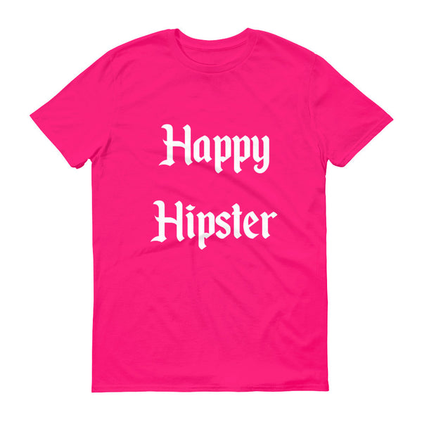 pink happy hipster graphic tee