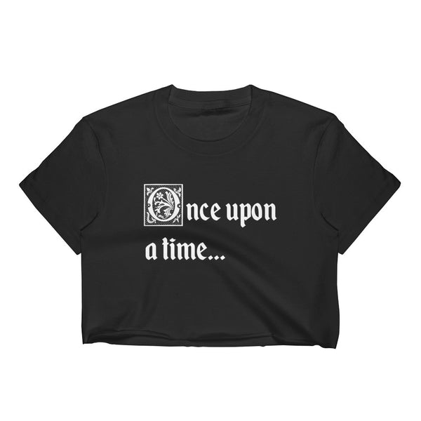 once upon a time fairytale crop top hipster black