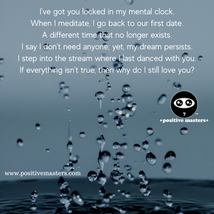 I've got you locked in my mental clock.