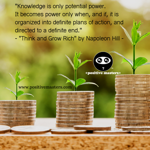 Knowledge is only potential power.