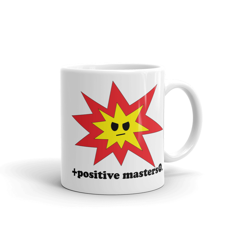 Angry Explosion Mug - +positive masters+, shirts and clothing to crush anxiety and depression