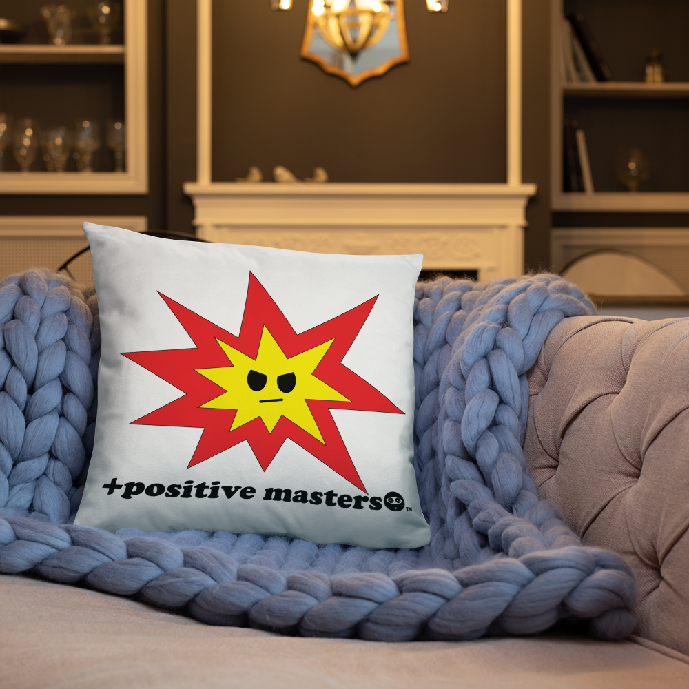 Angry Explosion Logo Pillows