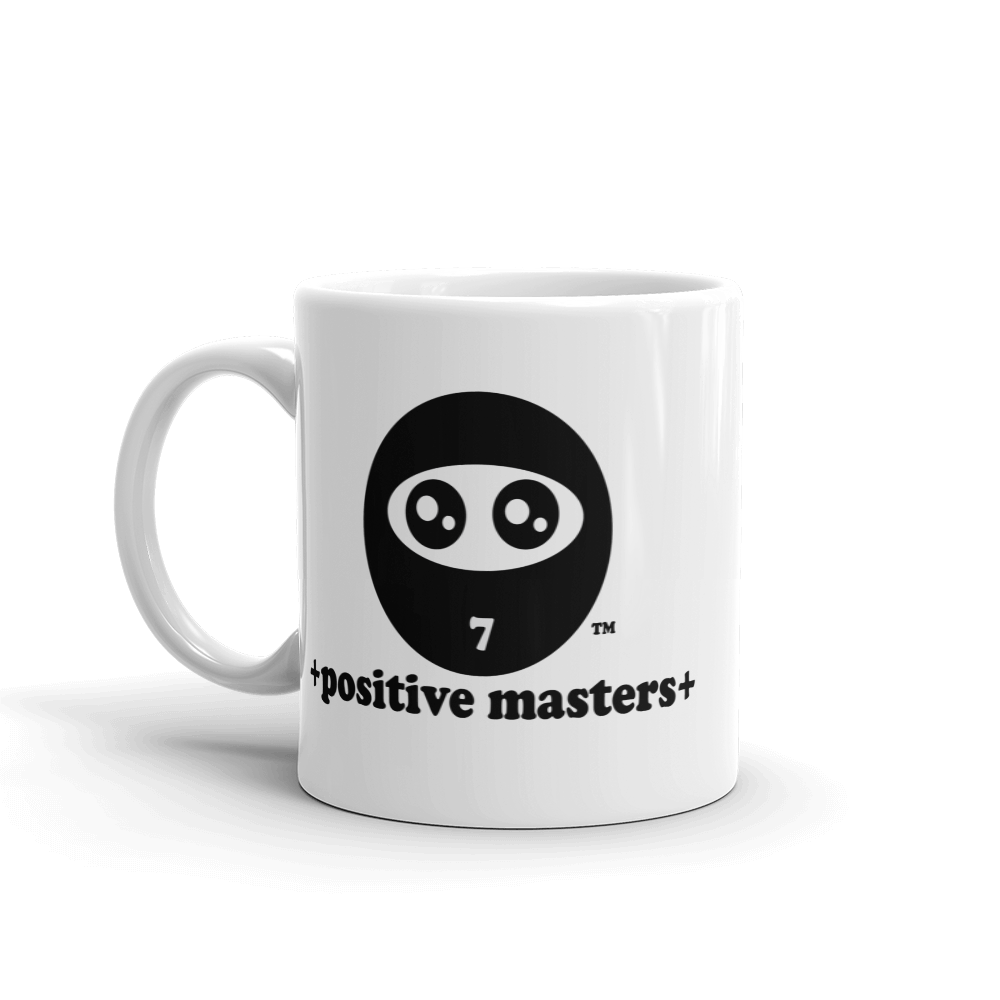 Positive Masters Logo Mugs - +positive masters+, shirts and clothing to crush anxiety and depression