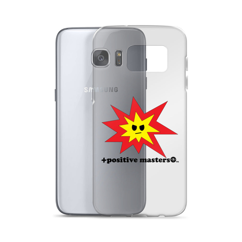 Angry Explosion Logo Samsung Galaxy Phone Cases (Black Font)